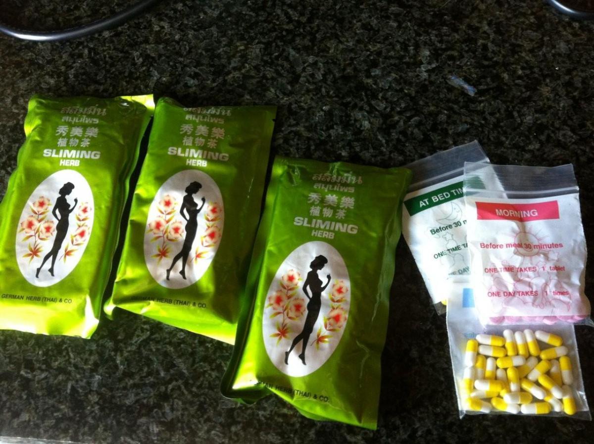 Тайские таблетки для похудения состав
