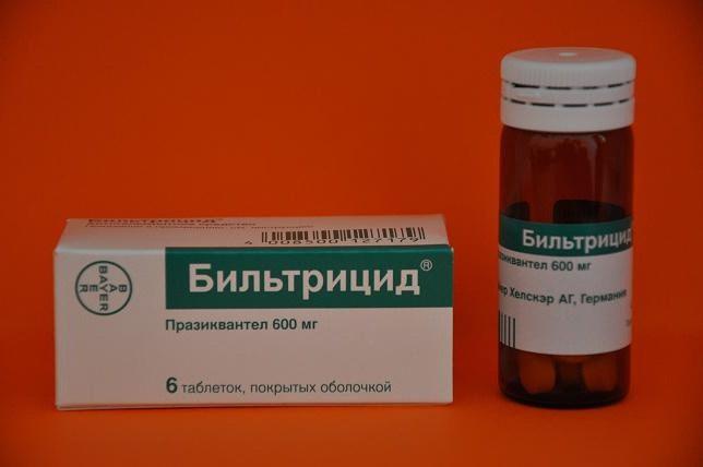 Как принимать Бильтрицид при описторхозе: схема приема и дозировки