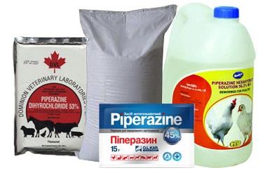 Пиперазин для животных — инструкция по применению, дозировка и схема применения препарата